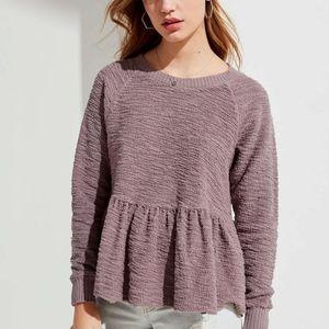 Truly madly deeply peplum sweatshirt sz M rust